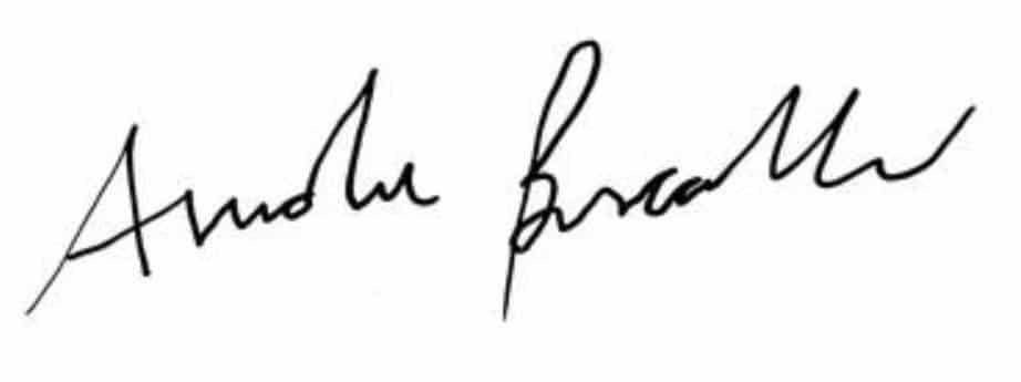 autografo Andrea Bocelli